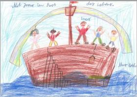 Mit Jesus in einem Boot